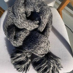 DVF Sparkly Wool Scarf with Pom Pom on Sale!